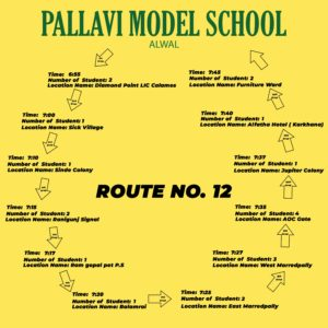 PMS Alwal ROUTE NO. 12
