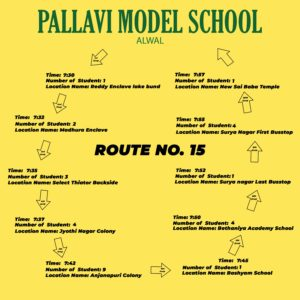 PMS Alwal ROUTE NO. 15