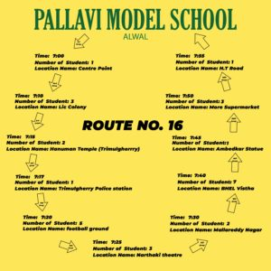PMS Alwal ROUTE NO. 16