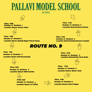 PMS Alwal ROUTE NO. 9